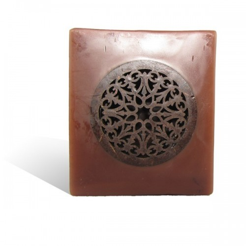 Photophore cube motif rosaceen chocolat