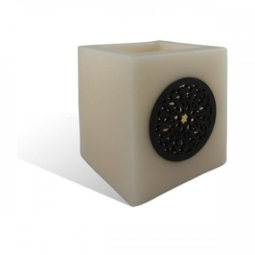 Photophore cube motif rosaceen saumon