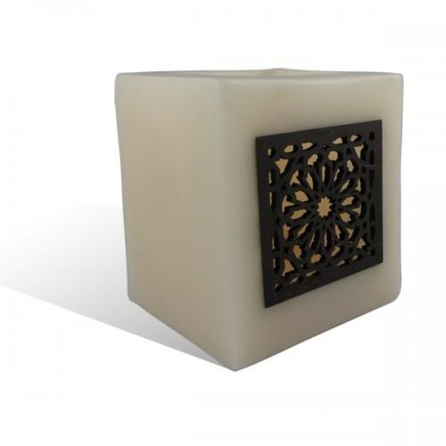 Photophore cube saumon motif carré mouchaibieh