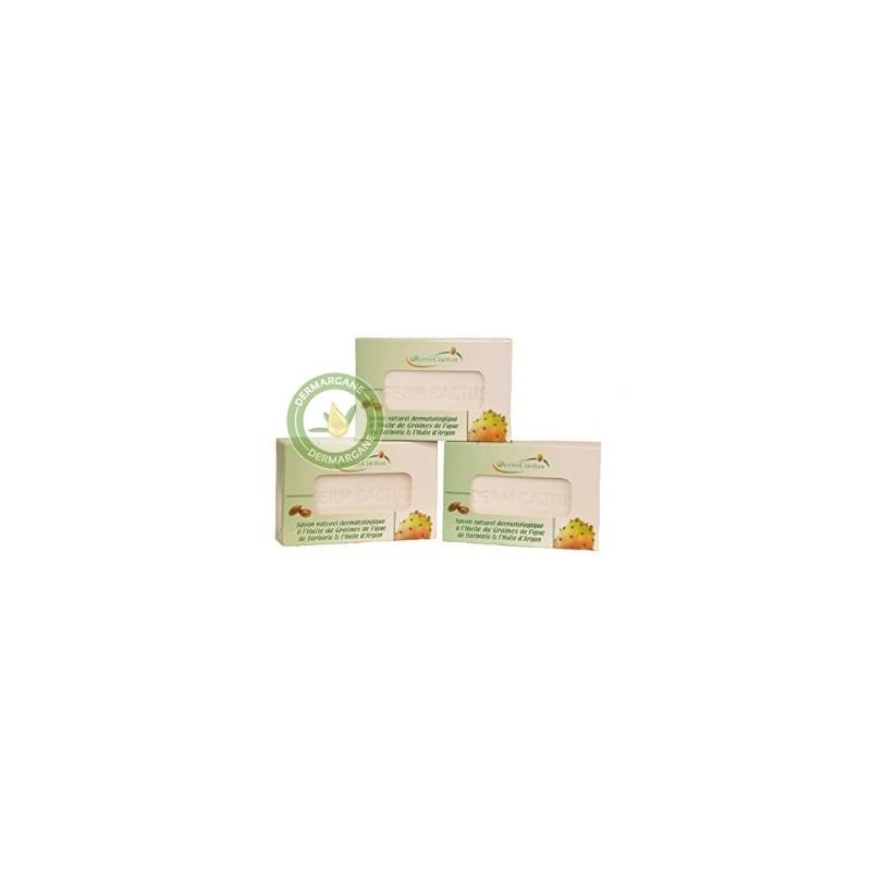 Lot de 3 Savons Naturels Dermatologiques Anti Taches Brunes Anti Rides Anti Cernes à lHuile de Graines de Figue