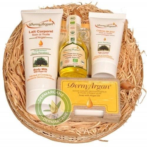 Coffret 4 produits beauté Huile dArgan pure 40ml Lait corporel à lHuile dArgan 125ml